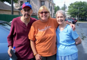 Gregory Kraus with Linda Maiellano, center, and Gregory's mother Shirley Kraus.