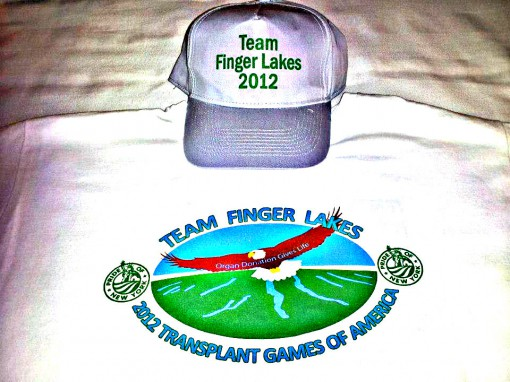 Transplant Games 2012 Team tshirta