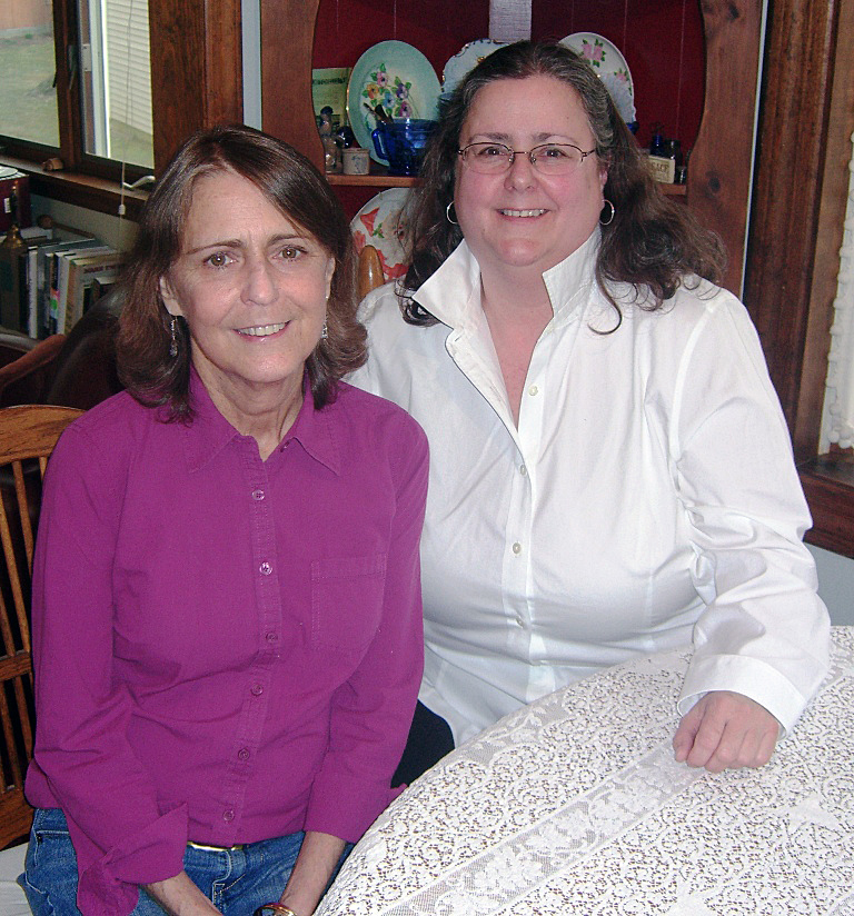 Nonie and Kate, who are sisters, are photographed together