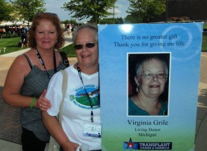 Kathy and Virginia at 2012 Transplant Games
