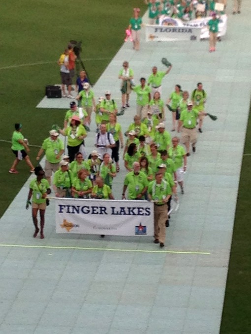Team Finger Lakes enters the arena during the opening ceremonies