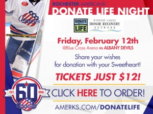 Donate Life Night with the Amerks @ Blue Cross Arena | Rochester | New York | United States